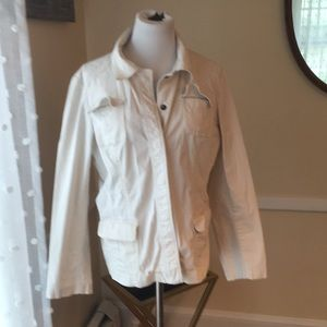 Chico's Size 2 Off-White Jacket with Snaps In EUC
